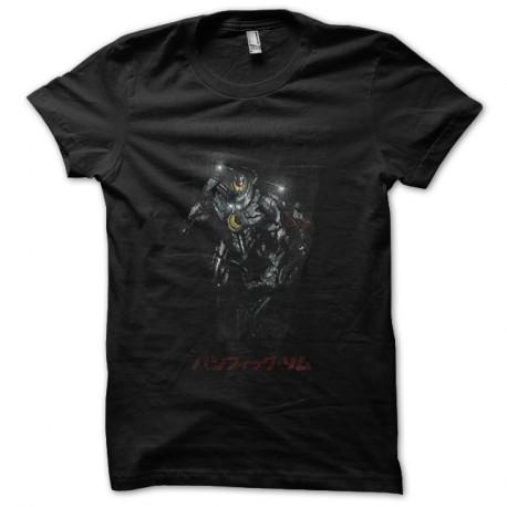 Shirt japonais robot Jaeger noir pour homme et femme