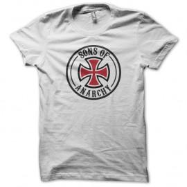 Shirt bikers Sons Of Anarchy croix de malte blanc pour homme et femme
