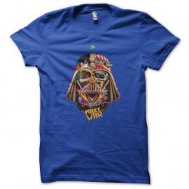 Shirt Dark Vador portrait psychédélique bleu pour homme et femme
