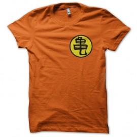 Shirt symbole Tortue Géniale Muten Roshi's kanji orange pour homme et femme