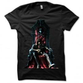 Shirt noir Albator trone pour homme et femme