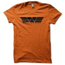 Shirt Weyland corp Prometheus Alien orange pour homme et femme