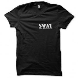 Shirt SWAT unité spéciale noir pour homme et femme