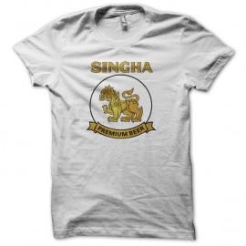 Shirt bière Singha premium blanc pour homme et femme