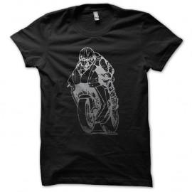 Shirt moto de grand prix noir pour homme et femme