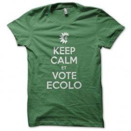 Shirt Keep Calm et vote écolo vert pour homme et femme