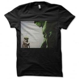 Shirt Dream Big Yoda & Hulk noir pour homme et femme