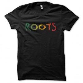 Shirt Roots dégradé usé noir pour homme et femme