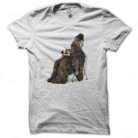 Shirt Chewbacca chez le coiffeur blanc pour homme et femme