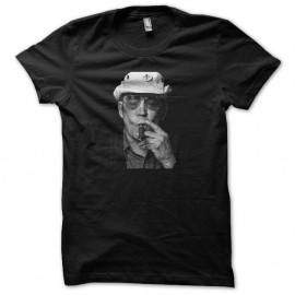 Shirt Hunter Thompson portrait en trame noir pour homme et femme