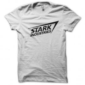 Shirt Stark industries Iron Man blanc pour homme et femme