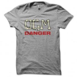 Shirt OGM danger gris pour homme et femme