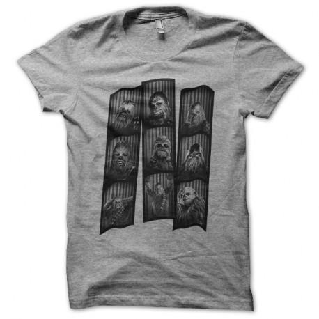 Shirt Chewbacca photomaton gris pour homme et femme