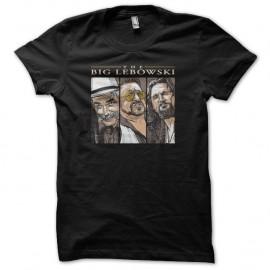 Shirt The Big Lebowski triptyque titre noir pour homme et femme