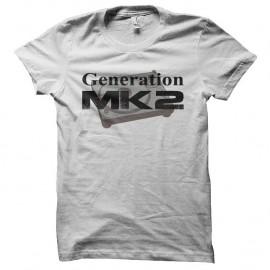 Shirt Generation MK2 blanc pour homme et femme