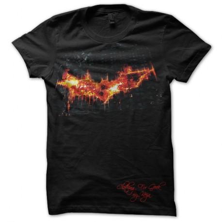 Tee-Shirt Dark Night en flamme noir pour homme et femme