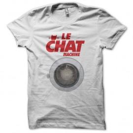Shirt Les Nuls Le chat machine blanc pour homme et femme