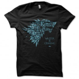 Shirt trone de fer breaking bad walter is coming noir pour homme et femme