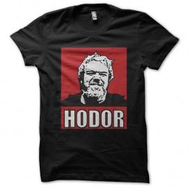 Shirt le trone de fer Hodor Game of thrones noir pour homme et femme