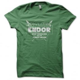 Shirt Save Endor the forest moon vert pour homme et femme