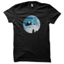 Shirt lune Endor parodie E.T. noir pour homme et femme