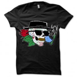 Shirt Breaking Bad Heisenberg dia de los muertos noir pour homme et femme
