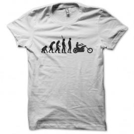 Shirt evolution moto biker type sons of anarchy blanc pour homme et femme