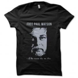Shirt Free Paul Watson Sea Shepperd écologie noir pour homme et femme