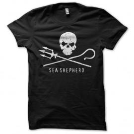 Shirt Sea Shepperd Paul Watson écologie noir pour homme et femme