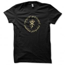 Shirt symbole de tolkien dans l'anneau unique noir pour homme et femme