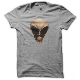Shirt Crâne de Roswell gris pour homme et femme