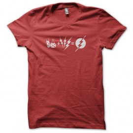 Shirt de sheldon dans big bang theory making of de Flash rouge pour homme et femme