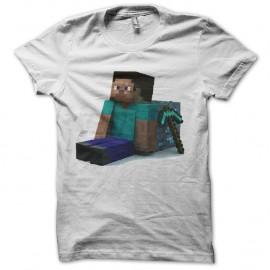 Shirt jeu minecraft blanc pour homme et femme