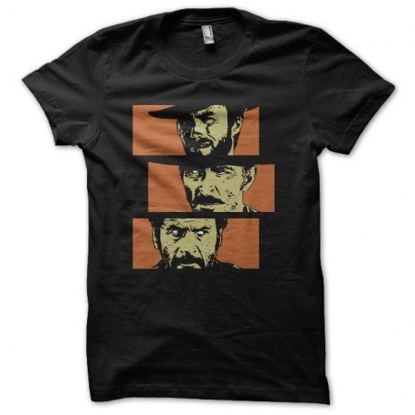 Shirt le bon la brute et le truand noir pour homme et femme