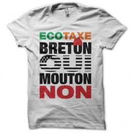 Shirt Bretagne bonnets rouges écotaxe Breton oui mouton non blanc pour homme et femme