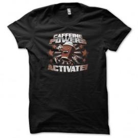 Shirt Caffeine powers activate noir pour homme et femme