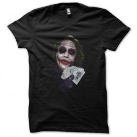 Shirt le joker play cards noir pour homme et femme