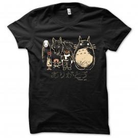 Shirt Hommage à Miyazaki noir pour homme et femme
