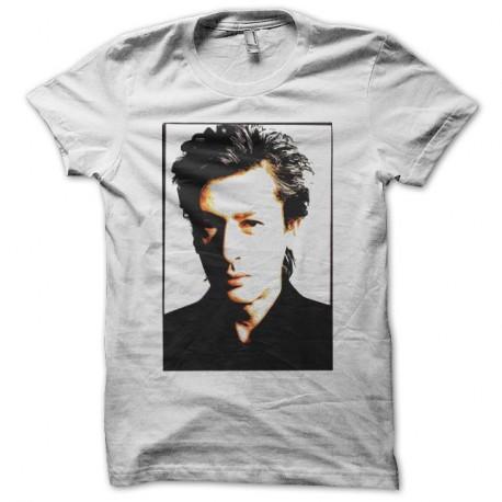 Shirt Alain Bashung portrait dessin blanc pour homme et femme