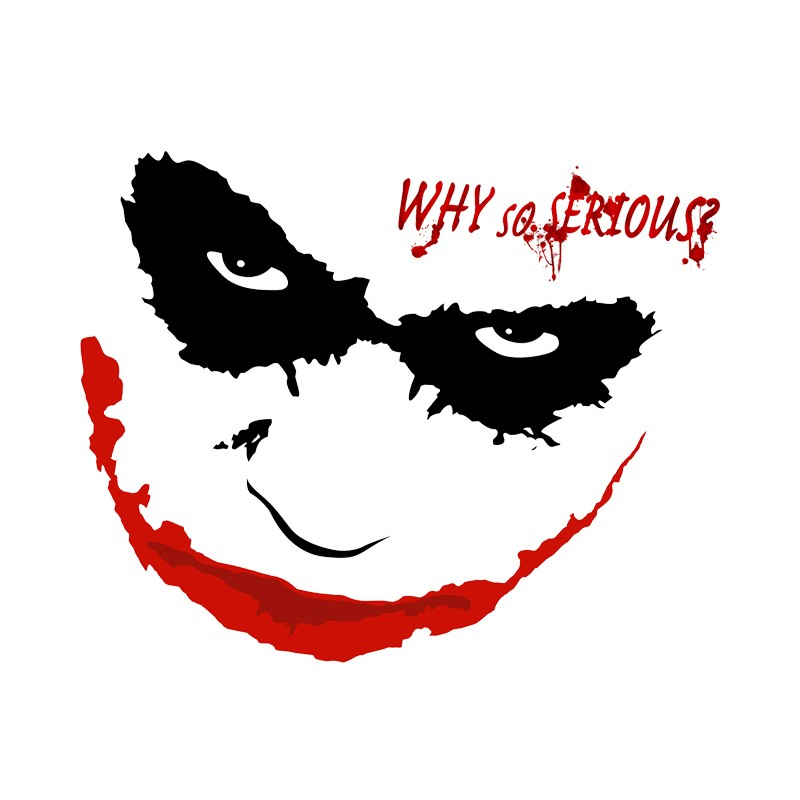 T Shirt Joker Sourire Why So Serious Blanc