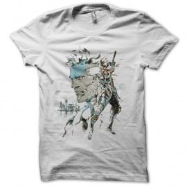 Shirt Metal Gear blanc pour homme et femme