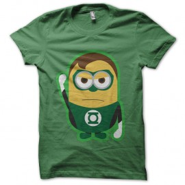 Shirt minion parodie green lantern vert pour homme et femme