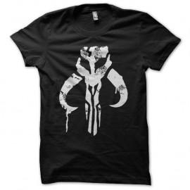 Shirt Boba Fett graffiti vintage noir pour homme et femme