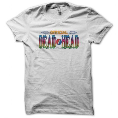 Shirt dead official blanc pour homme et femme