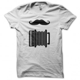 Shirt Accordéon Hipster blanc pour homme et femme