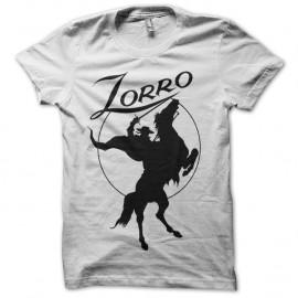 Shirt Zorro blanc pour homme et femme