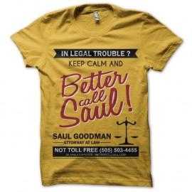 Shirt Breaking Bad - Saul Goodman jaune pour homme et femme