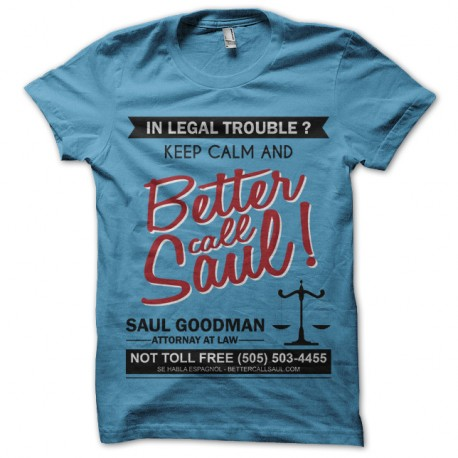 Shirt Breaking Bad - Saul Goodman bleu pour homme et femme