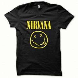 Shirt Nirvana jaune/noir pour homme et femme