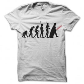 Shirt Dark Vador Evolution blanc pour homme et femme